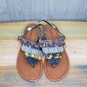 Madden Girl Islaa Womens Wedge Slingback Sandals